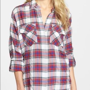Sam Edelman Plaid Shirt-Worn Twice